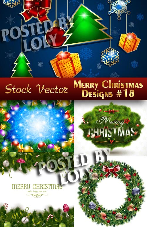 Merry Christmas Designs #18 - Stock Vector