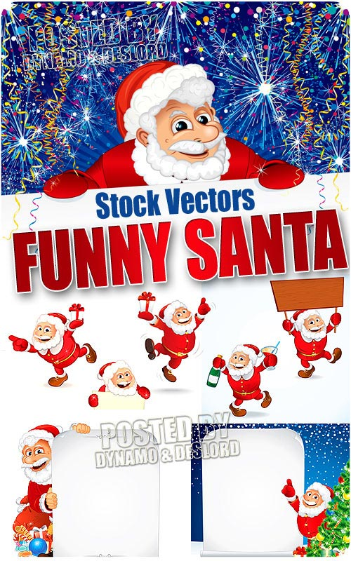Funny santa - Stock Vectors
