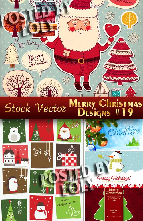 Merry Christmas Designs #19 - Stock Vector