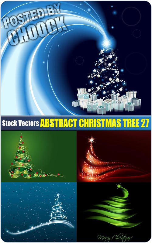 Abstract Christmas tree 27 - Stock Vector