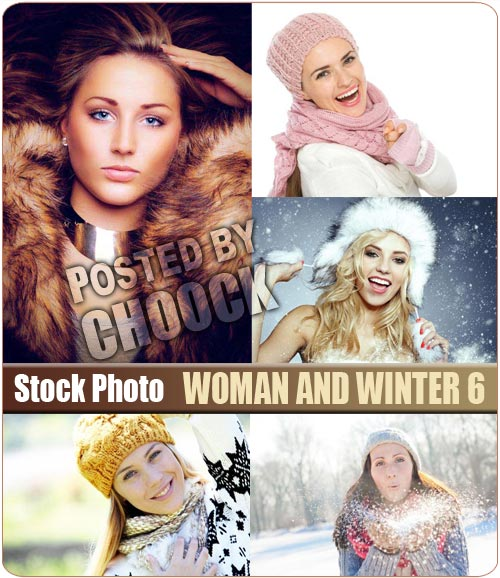 Woman and winter 6 - Stock Photo