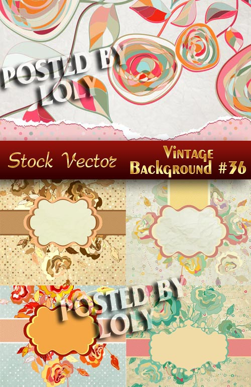 Vintage backgrounds #36 - Stock Vector