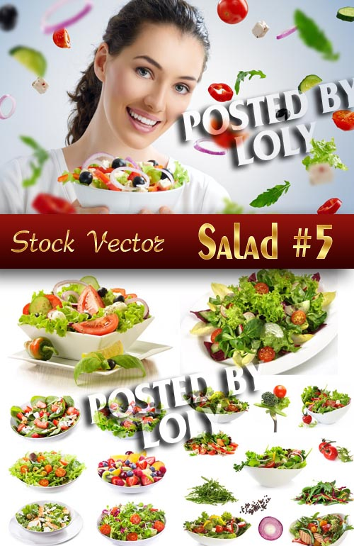 Fresh Salads #5 - Stock Photo