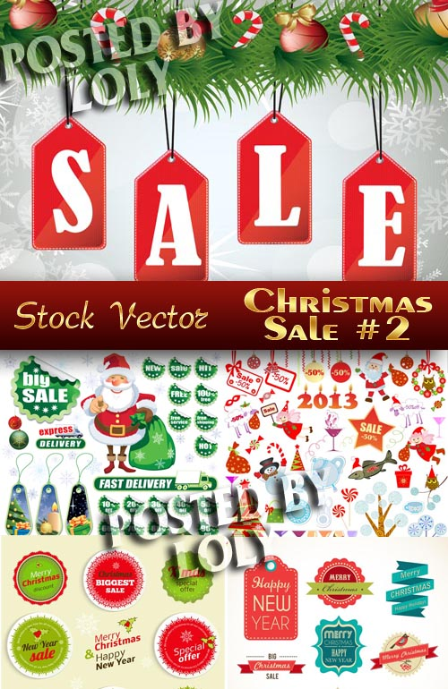 Christmas Sale #2 - Stock Vector