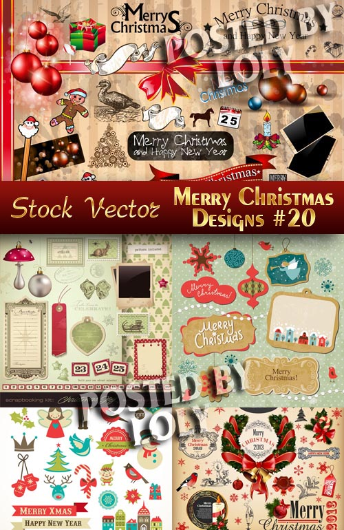 Merry Christmas Designs #20 - Stock Vector
