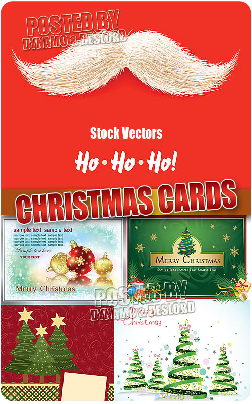 Christmas greeting cards 3 - Stock Vectors