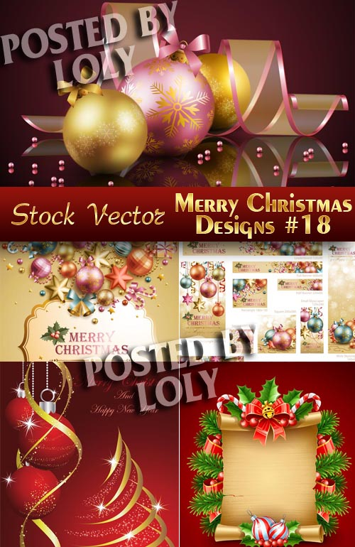 Merry Christmas Designs #21 - Stock Vector