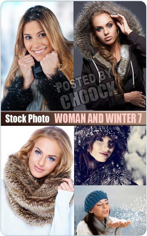 Woman and winter 7 - Stock Photo