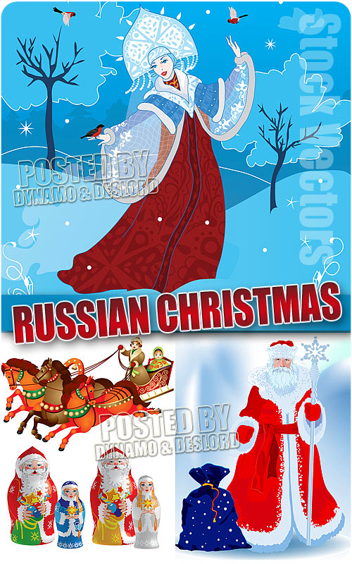 Russian Christmas - Stock Vectors