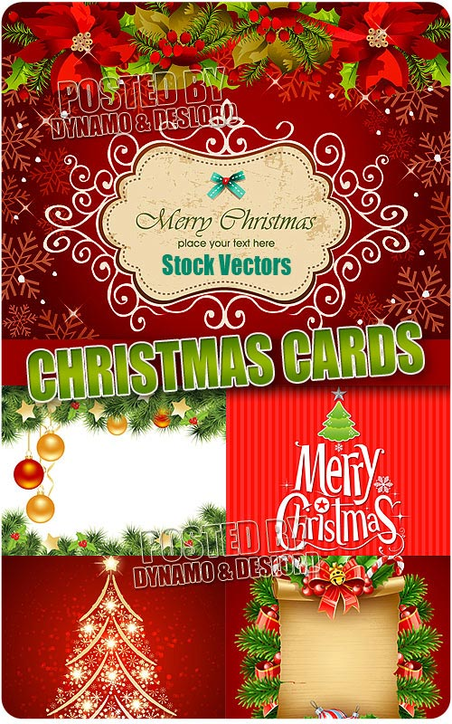 Christmas cards 4 - Stock Vectors
