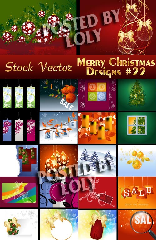 Merry Christmas Designs #22 - Stock Vector