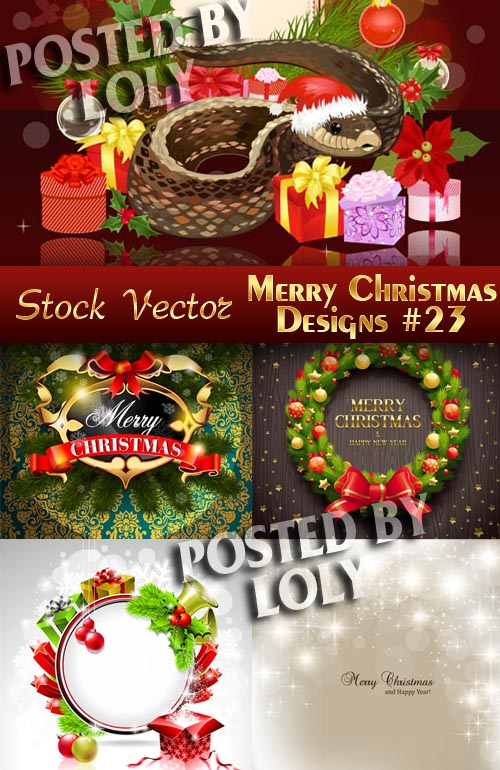Merry Christmas Designs #23 - Stock Vector