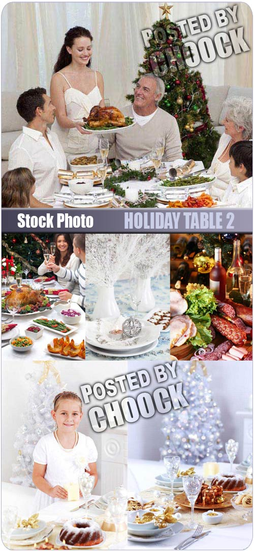 Holiday table 2 - Stock Photo