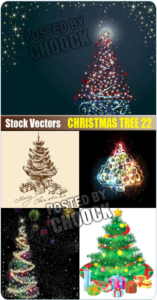 Christmas tree 22 - Stock Vector
