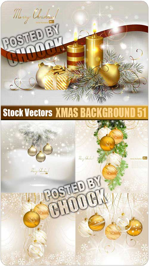 Xmas background 51 - Stock Vector
