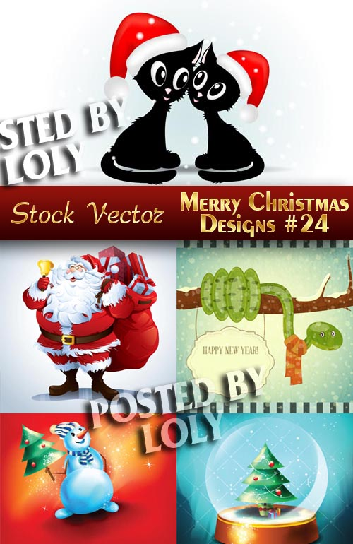 Merry Christmas Designs #24 - Stock Vector