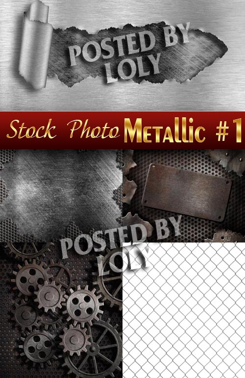 Metal backgrounds #1 - Stock Photo