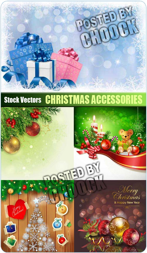 Christmas accessories - Stock Vector
