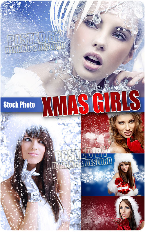 Christmas beautiful girl - SHQ Stock Photo