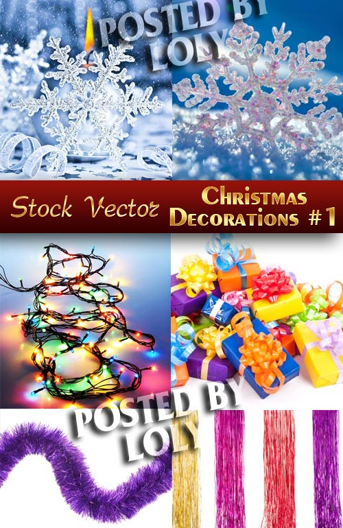 Christmas Decorations #1 - Stock Photo