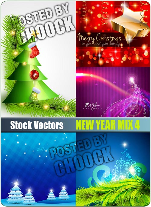 New Year mix 4 - Stock Vector