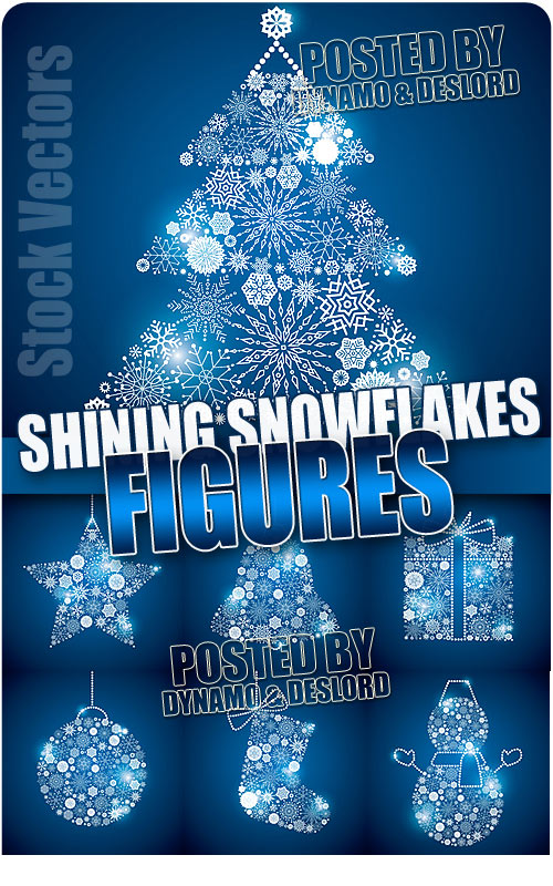 Shining snowflakes figures - Stock Vectors