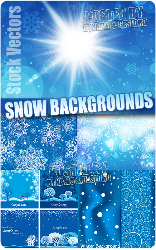 Snow backgrounds 3 - Stock Vectors