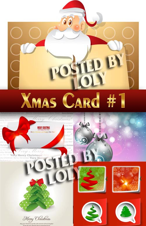 Christmas Cards # 1 - Stock Vector