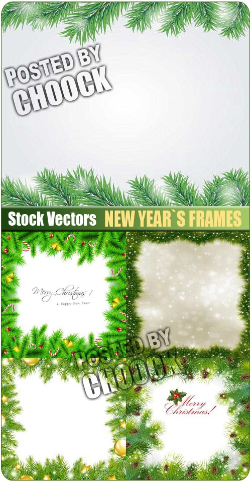New Year`s frames - Stock Vector