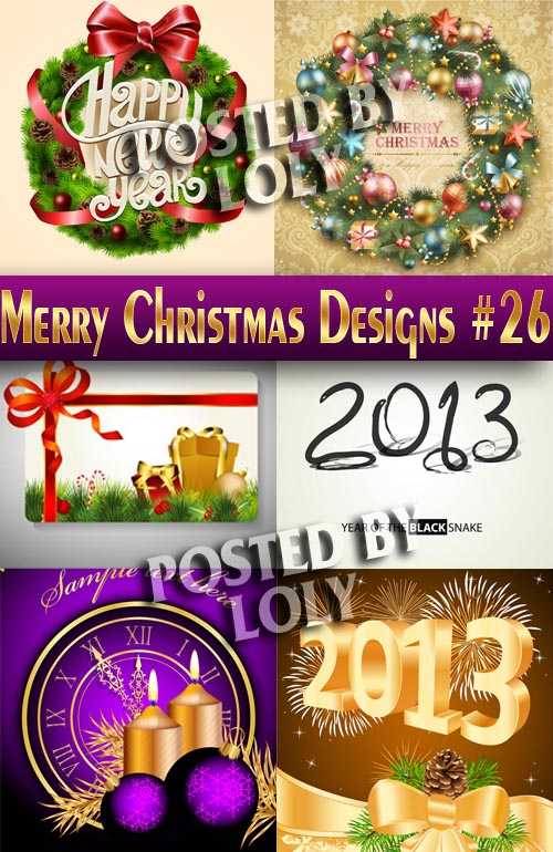 Merry Christmas Designs #26 - Stock Vector