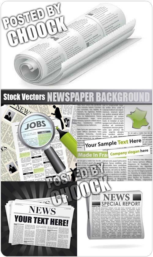 Newspaper background - Stock Vector