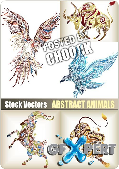Abstract animals - Stock Vector