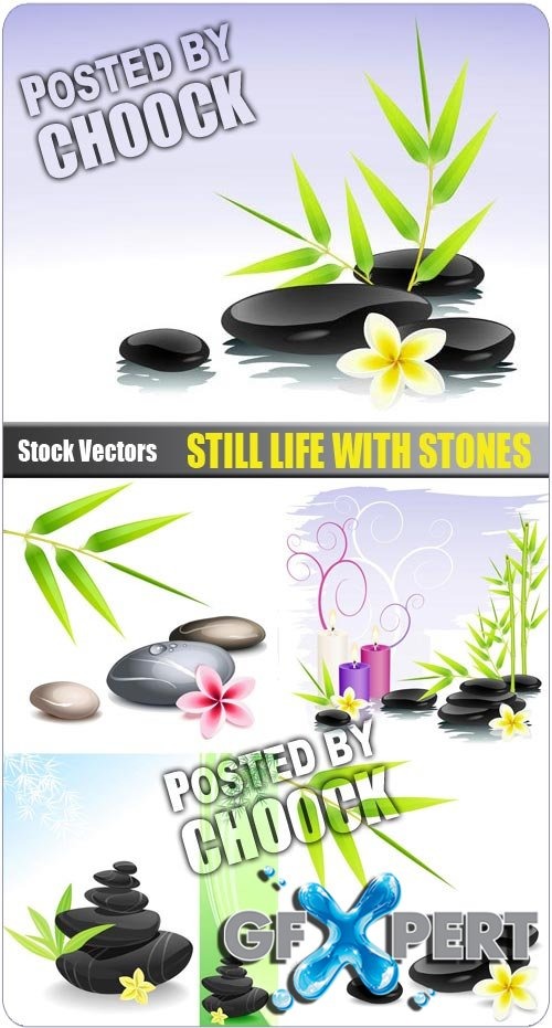Still life with stones - Stock Vector