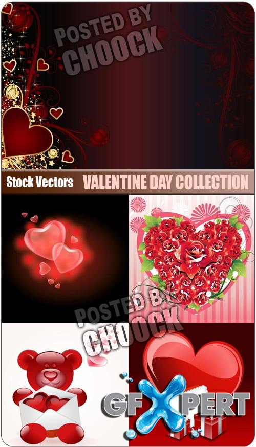 Valentine day collection - Stock Vector