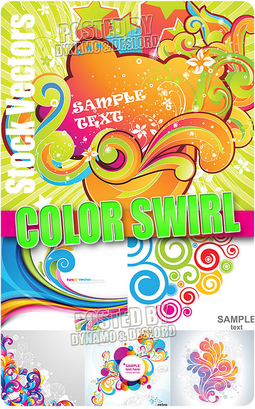 Color swirl - Stock Vectors