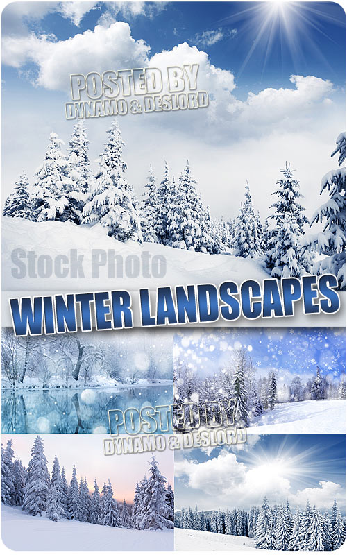 Winter snow landscapes - UHQ Stock Photo