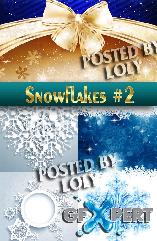 Snowy backgrounds #2 - Stock Vector