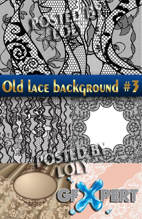 Vintage lace background #3 - Stock Vector