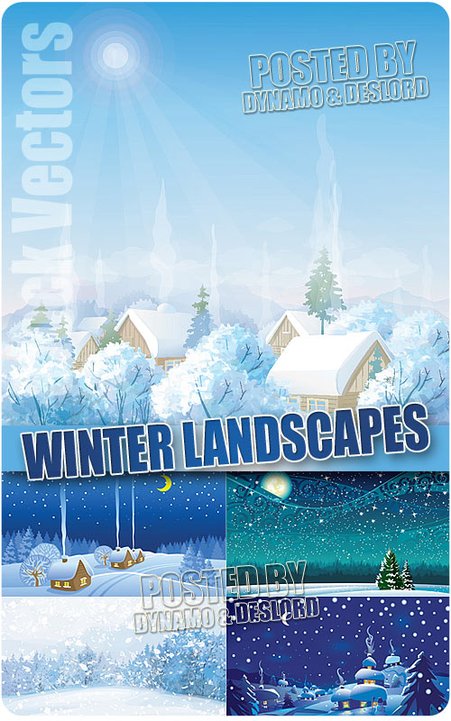 Winter landscapes 3 - Stock Vectors