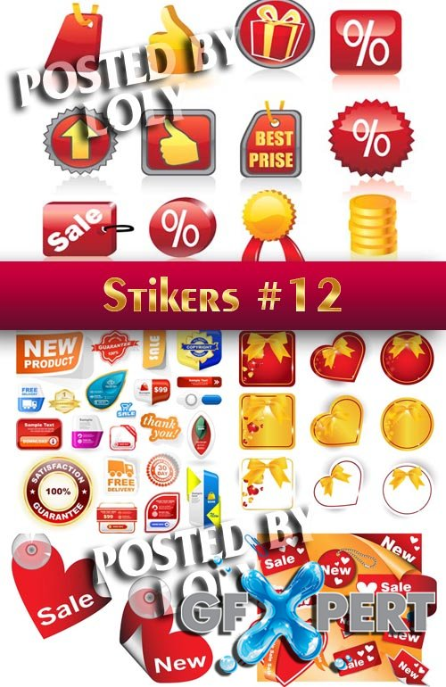 Stickers. SALE #12 - Stock Vector