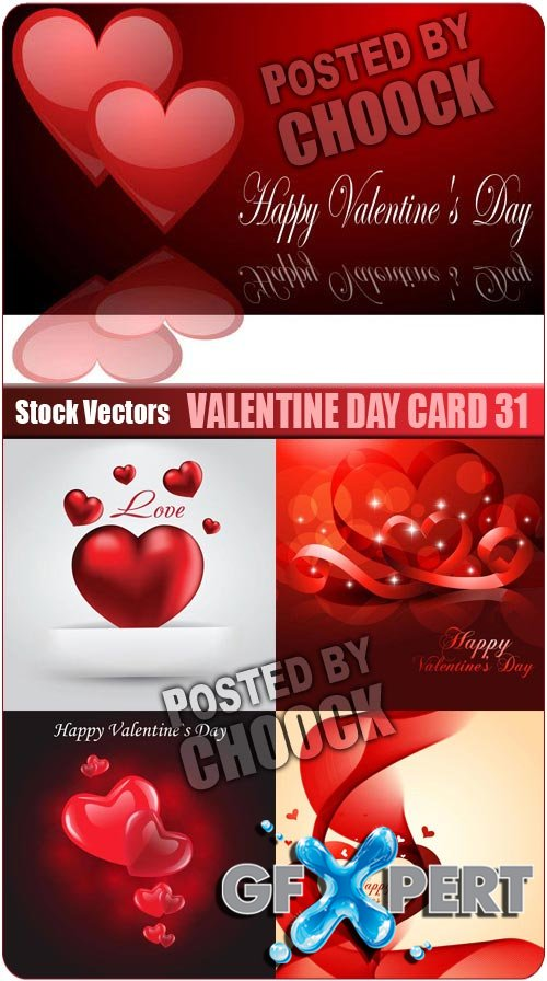 Valentine day card 31 - Stock Vector