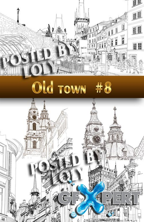 Old Town #8 - Stock Vector