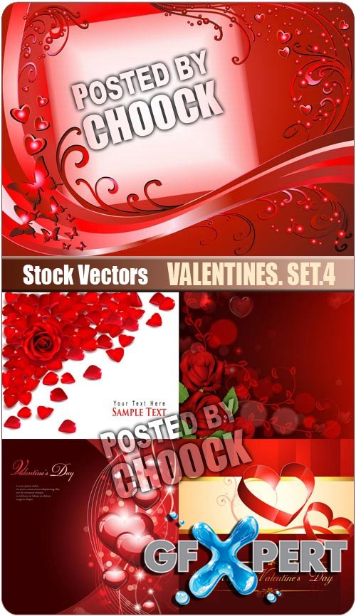 Valentines. Set.4 - Stock Vector