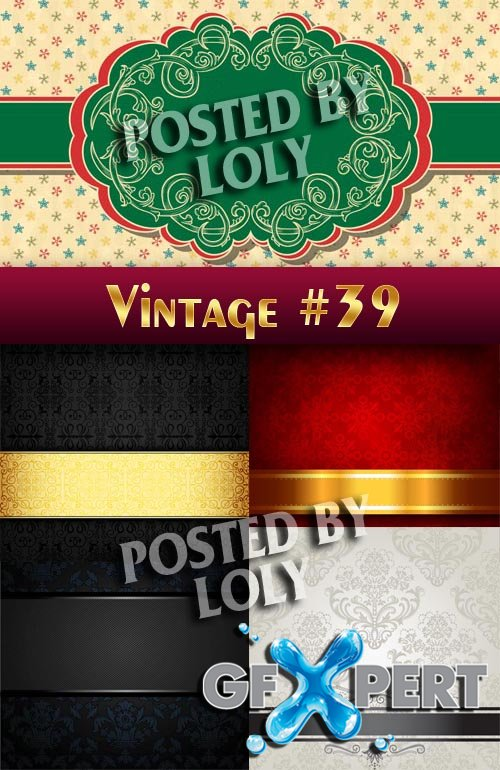 Vintage backgrounds #39 - Stock Vector