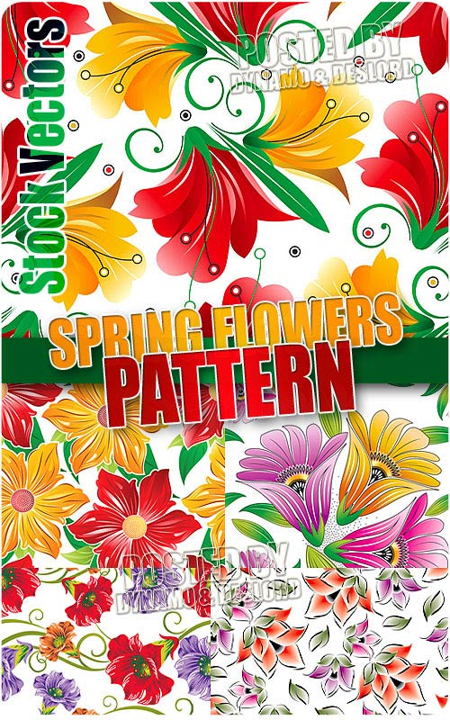 Spring flowers pattern - Stock Vectors