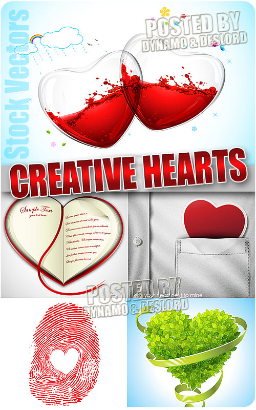 Creative heart- Stock vectors