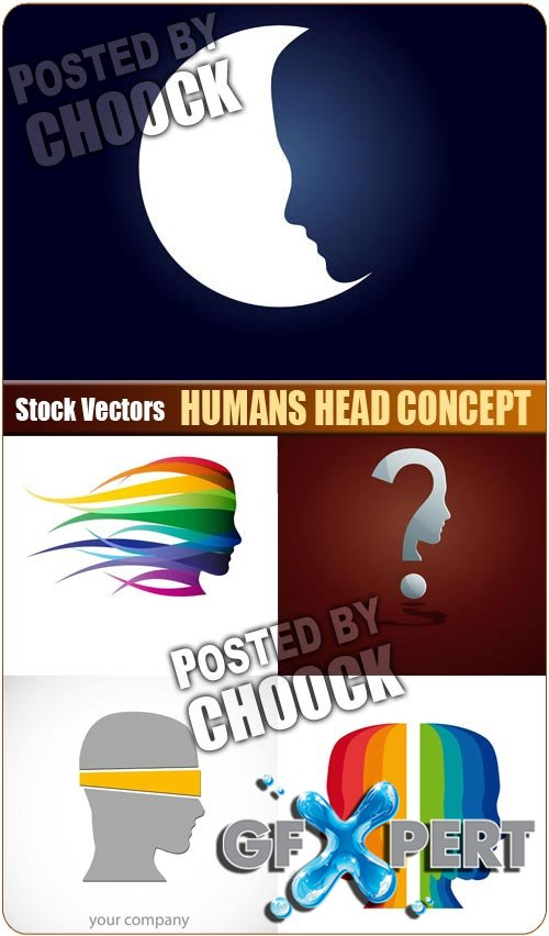 Humans head concept - Stock Vector