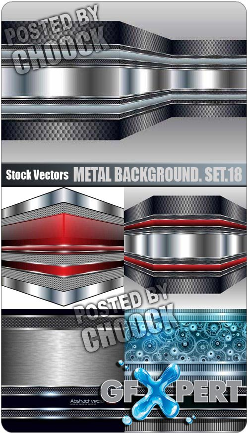Metal background. Set.18 - Stock Vector