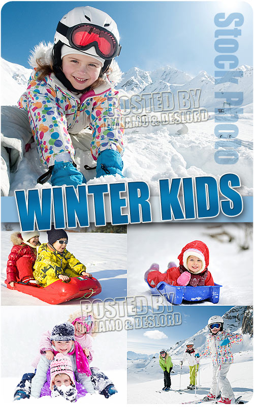 Winter kids - UHQ Stock Photo