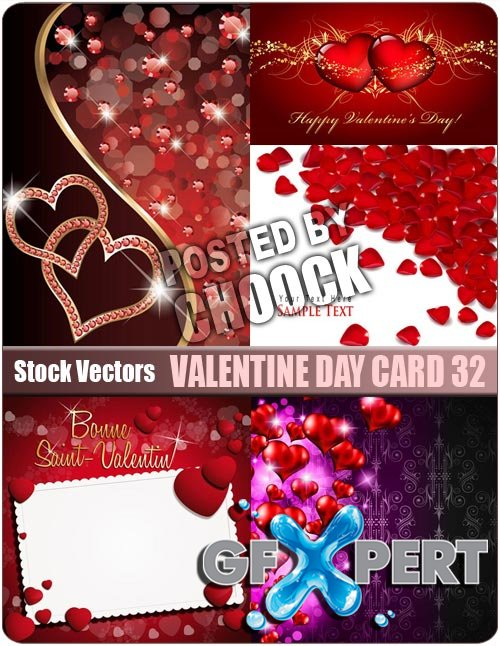 Valentine day card 32 - Stock Vector